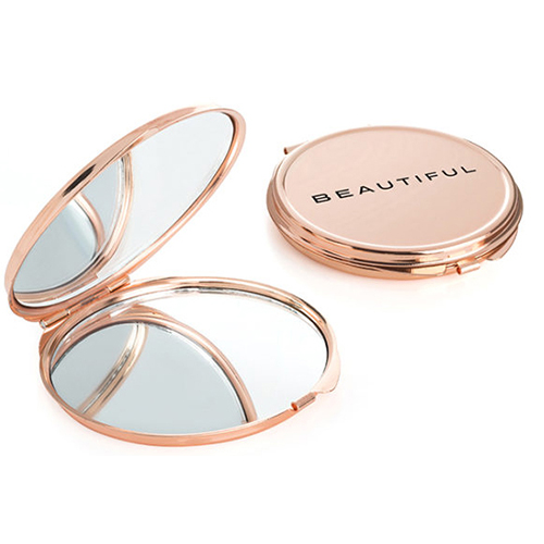 Double Compact Mirror in Rose Gold