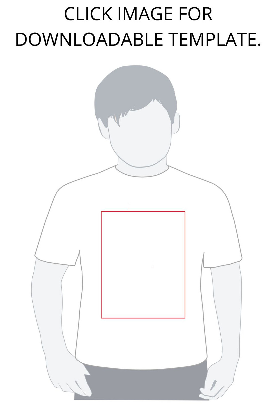 Boys' template for Total Merchandise T-shirt design competition