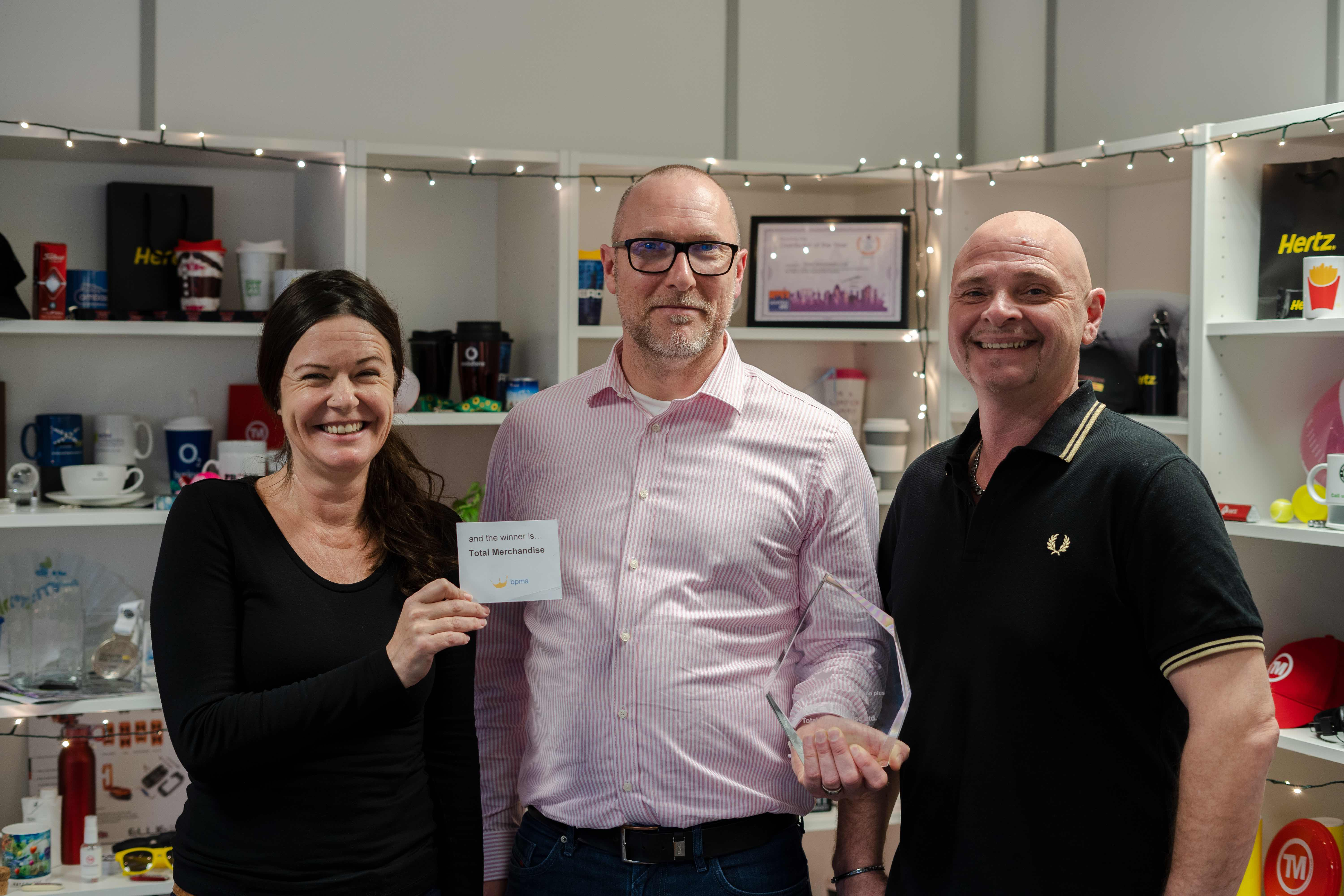 Total Merchandise founders Michelle Rae Stoddart, Jason O'Connor and David Stoddart