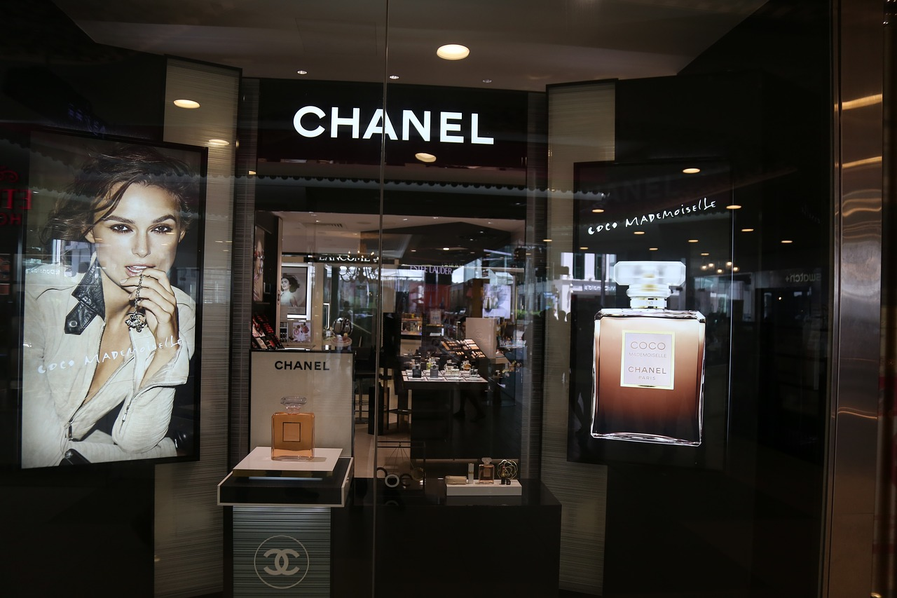 Chanel still uses black to help set it apart from other brands