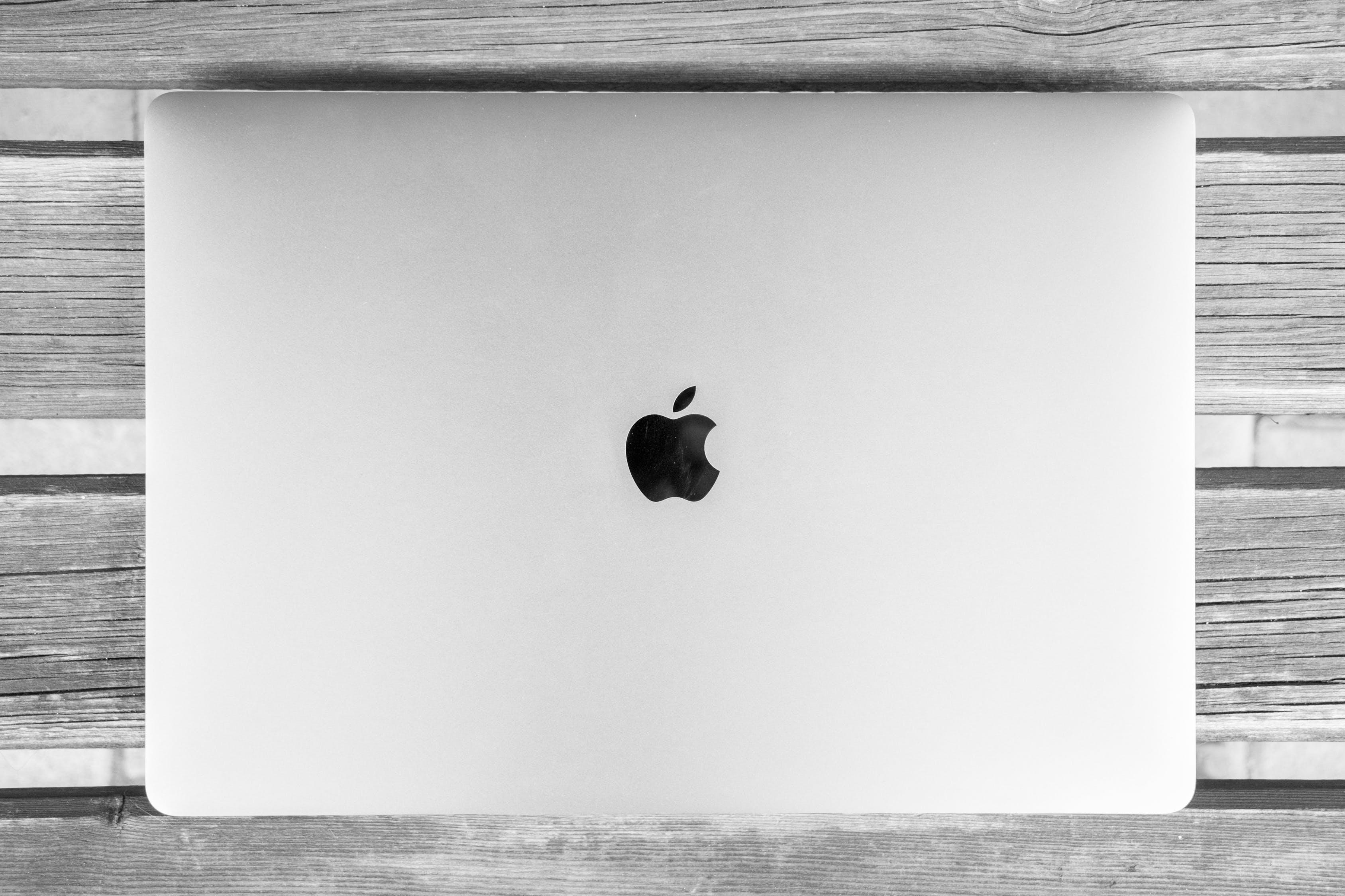 Apple's distinctive logo is black