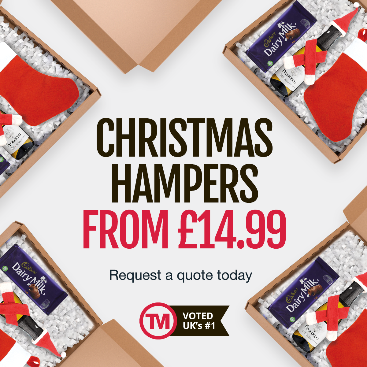 mailable corporate Christmas hampers