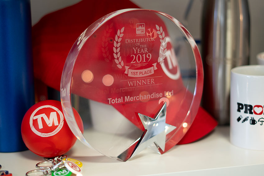 Total Merchandise wins promotional merchandise Distributor of the Year 2019