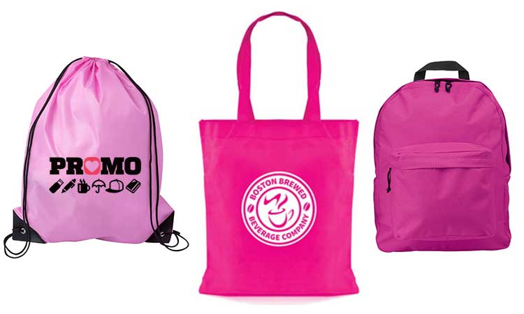 promotional bags in pink