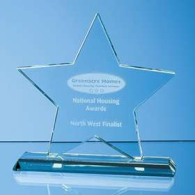 Medium Optical Crystal 5 Point Star Awards