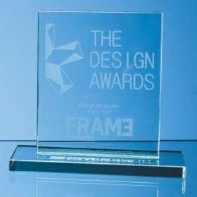 Medium Rectangle Jade Glass Awards