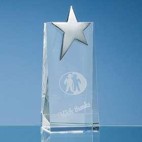 Optical Crystal Rectangle Star Awards