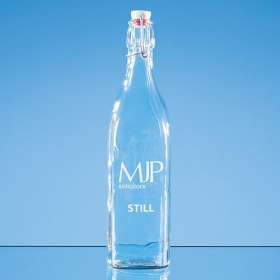 1 Litre Square Swing Top Glass Bottles