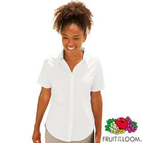 Fruit of the Loom Lady Fit Short Sleeve Oxford Shirts