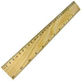 30cm Wood Rulers
