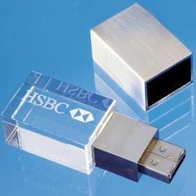 4GB Luxury Optical Crystal USB Flashdrives