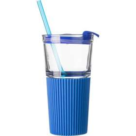 500ml Glasses with Straws