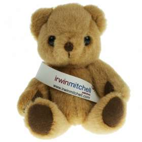 5 Inch Honey Jointed Bear with Sash
