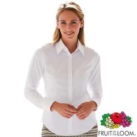 Fruit of the Loom Lady Fit Long Sleeve Oxford Shirts