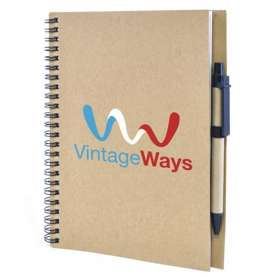 A5 Recycled Card Notebook and Pen