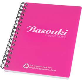A6 Recycled Polypropylene Notepad