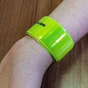 Adult Reflective Slap Wrap Wristbands - extra images