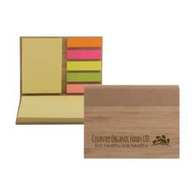 Bamboo Cased Sticky Note Sets