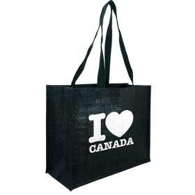 Black Taunton Jute Shopper Bags