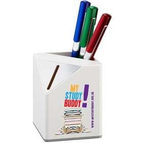Carlton White Money Box Pen Pots