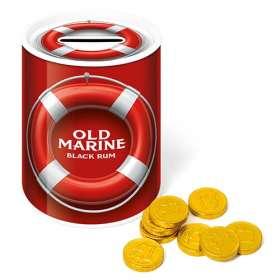 Chocolate Coin Money Box Tins