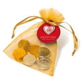 Chocolate Coin Organza Bags