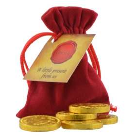 Chocolate Coin Pouches