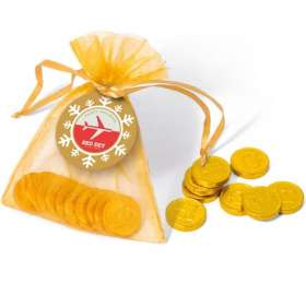 Product Image of Christmas Chocolate Coin Bags