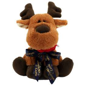 Christmas Plush Bow Reindeer