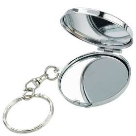 Chrome Compact Mirror Keyrings