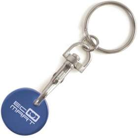 Coloured Metal Trolley Coin Keyrings