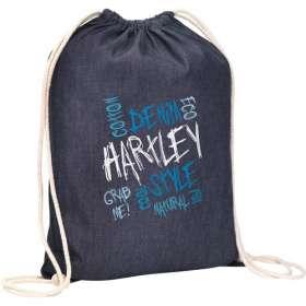 Product Image of Denim Drawstring Bags