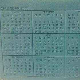 Belluno Desk Easel Calendar