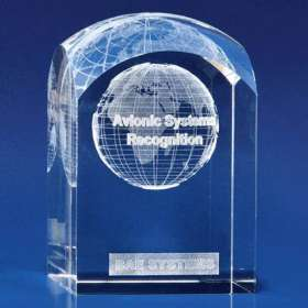 Dome Tower Crystal Award Paperweights