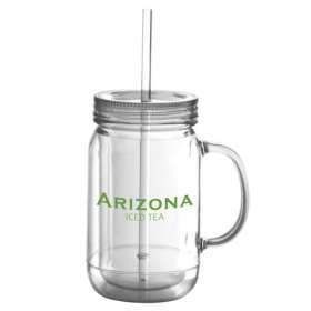 Double Walled Plastic Drinking Jars