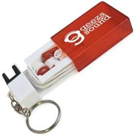 Earbud Phone Stand Keyrings