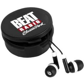 Earbuds in Round Case