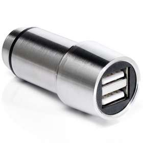 Executive USB Steel Car Chargers