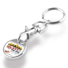 Express Trolley Coin Keychains