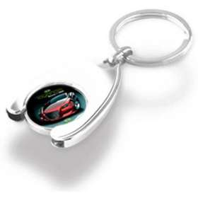 Express Wishbone Trolley Coin Keychains