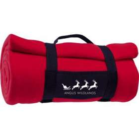 Fleece Blanket with Carry Strap