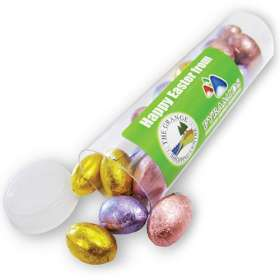 Foil Chocolate Egg Tubes
