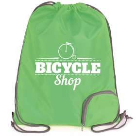 Product Image of Folding Polyester Drawstring Bags