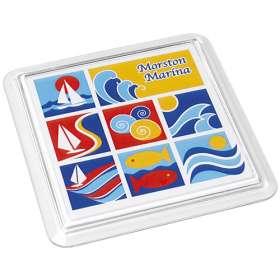 Full Colour Acrylic Square Coasters