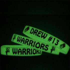 Childrens Glow in the Dark Silicon Wristbands