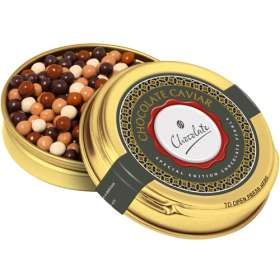 Gold Chocolate Pearl Tins