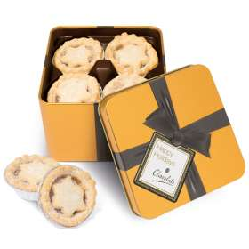 Gold Large Square Mince Pie Tins