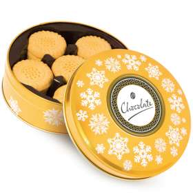 Gold Shortbread Biscuit Tins
