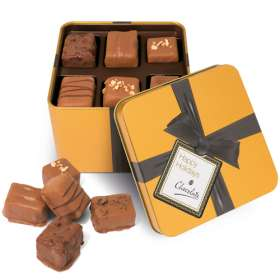 Gold Large Square Chocolate Tins