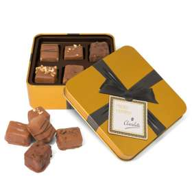 Gold Small Square Chocolate Tins